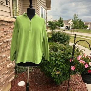 L.L. Bean Pullover Fleece Green EUC